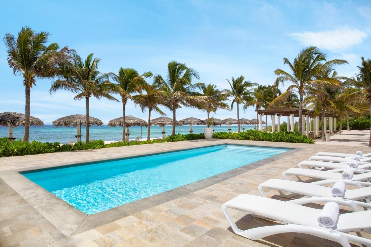 Le Soleil d'Or swimming pool at one of the best luxury hotels in Cayman Islands