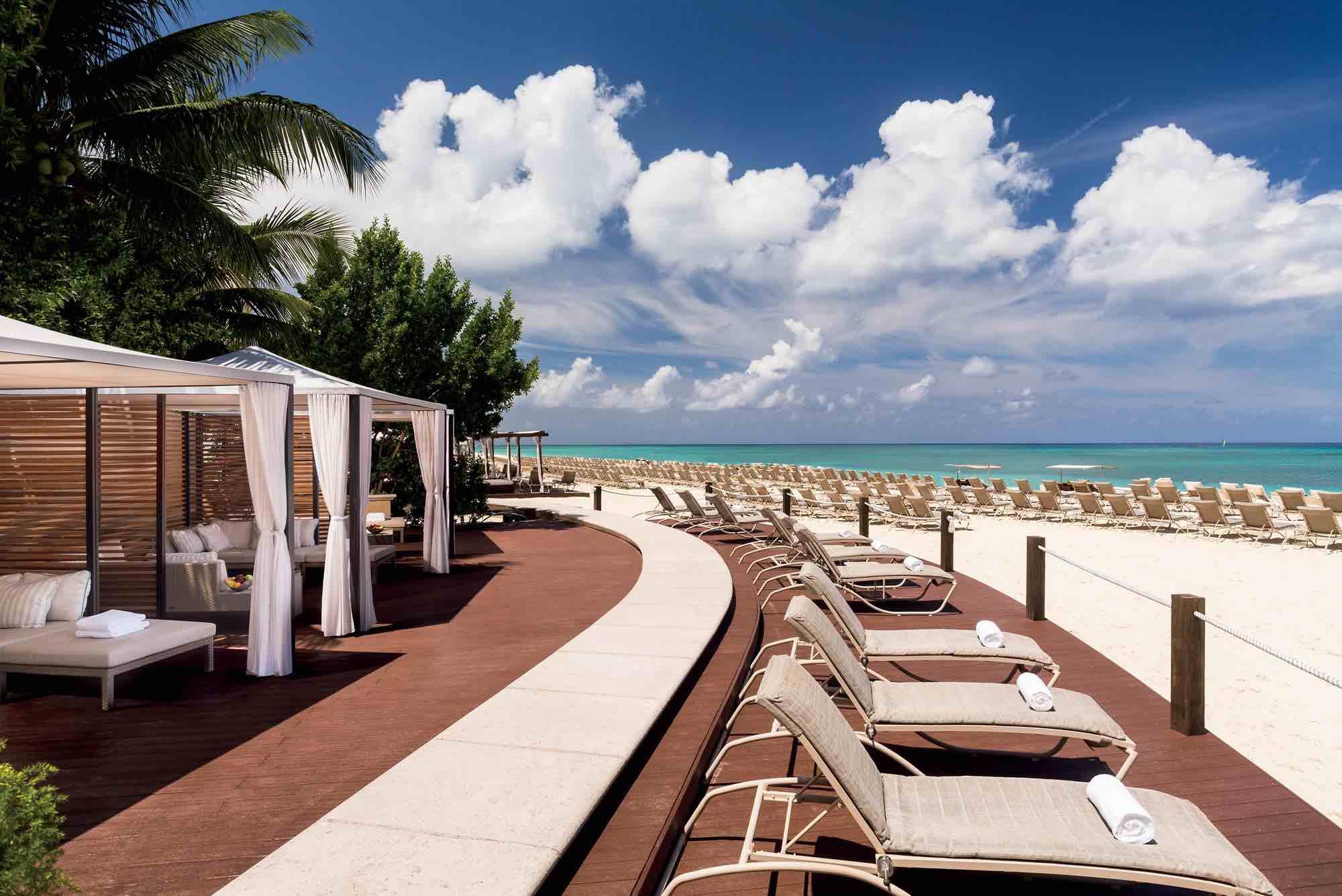 Luxury Hotels in Cayman Islands Ritz Carlton beach and cabanas