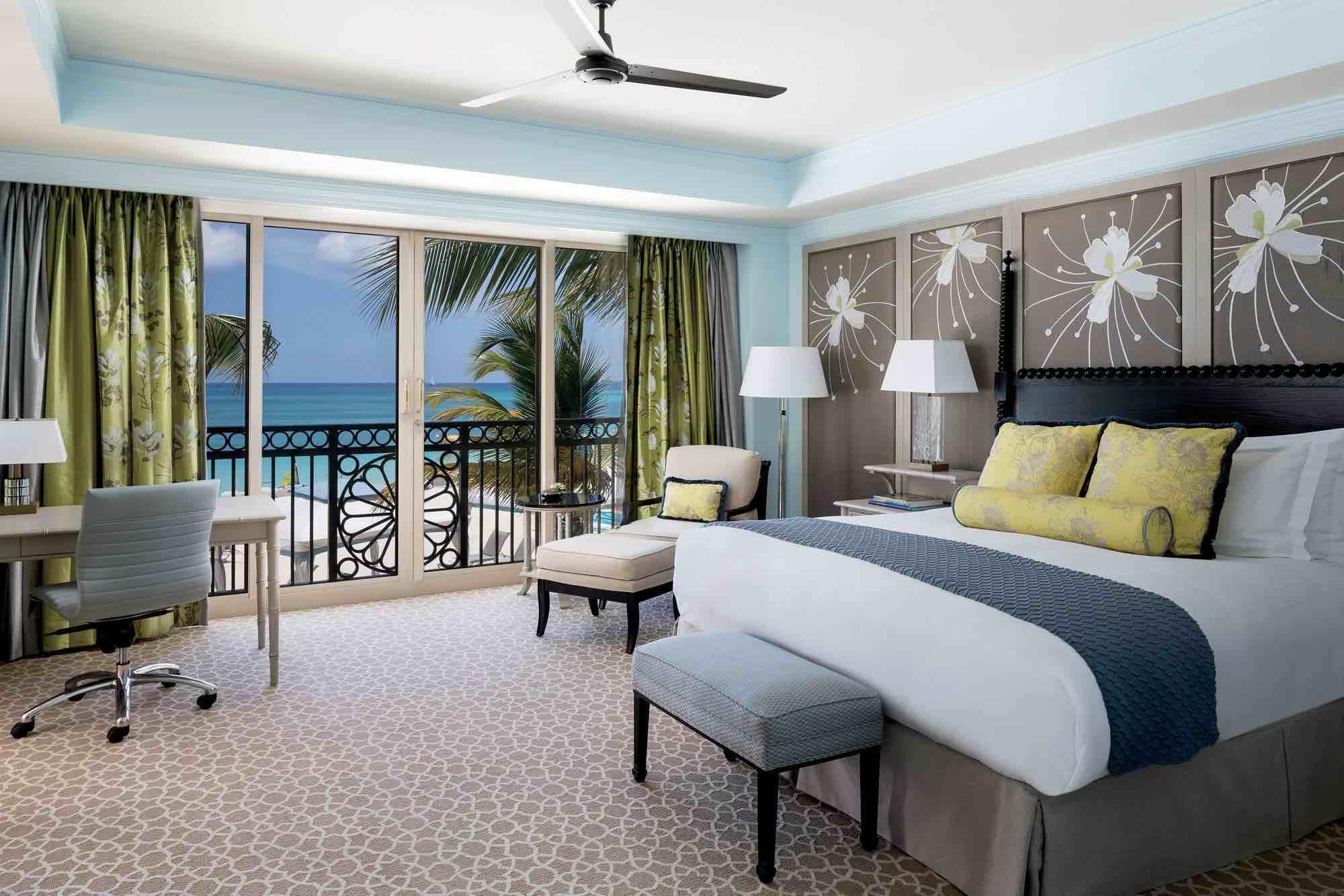 The Ritz-Carlton, Grand Cayman sea view bedroom