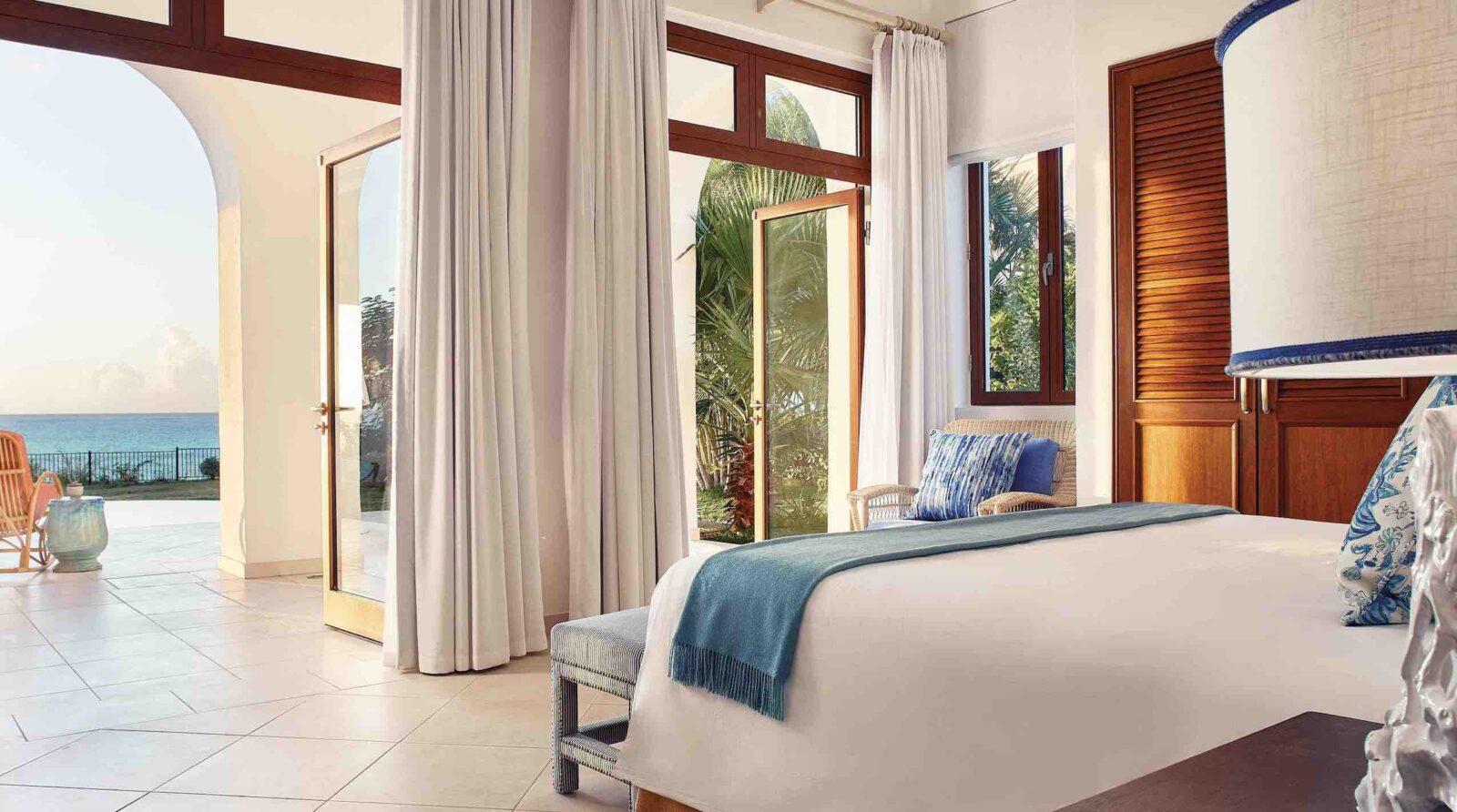 Belmond La Samanna bedroom with ocean view resorts in St Martin