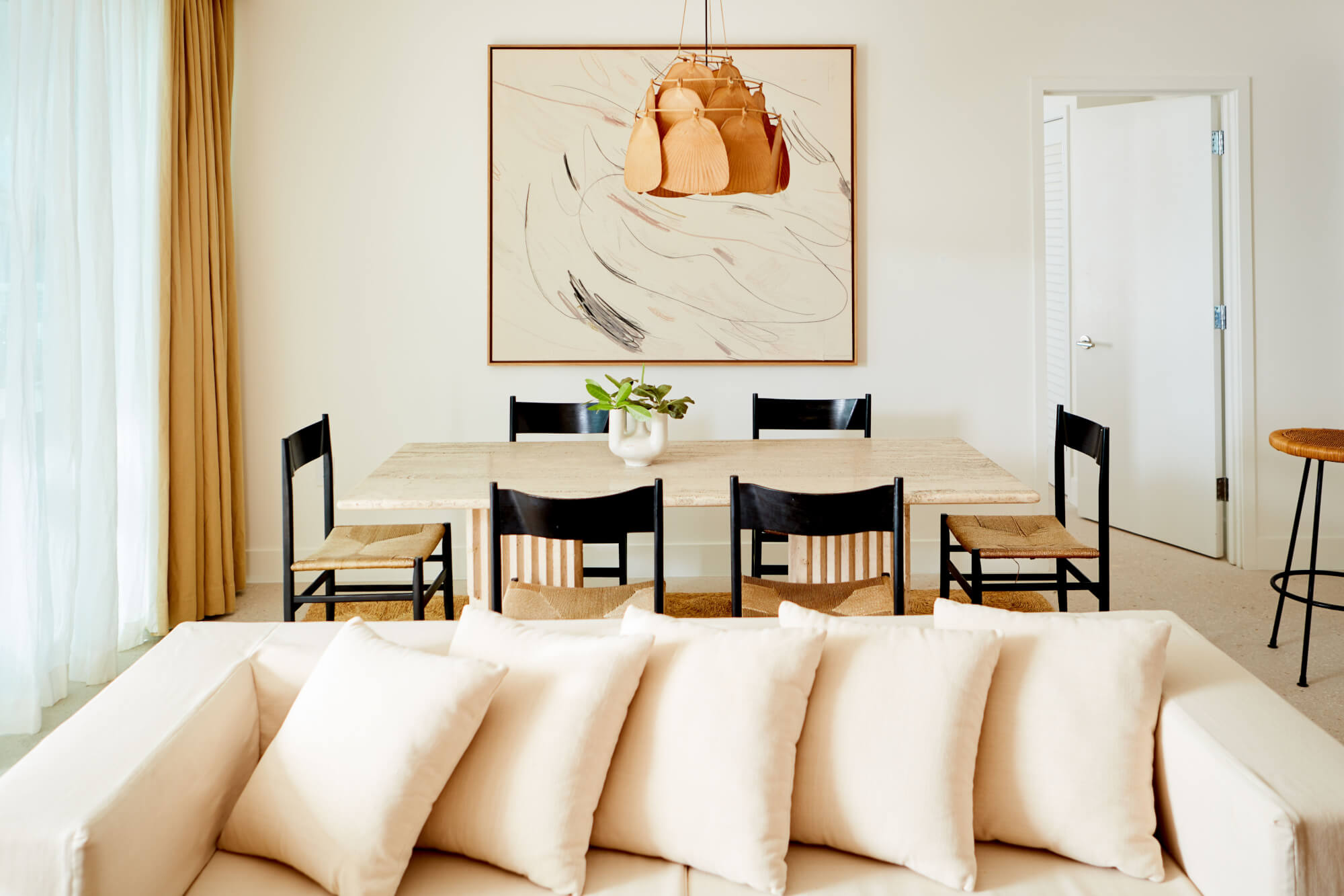 Palm Heights boutique hotels in Cayman Islands couch and table - 2-bed
